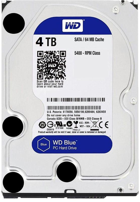 """4TB WD Blue 3.5"""" 5400RPM SATA HDD"""