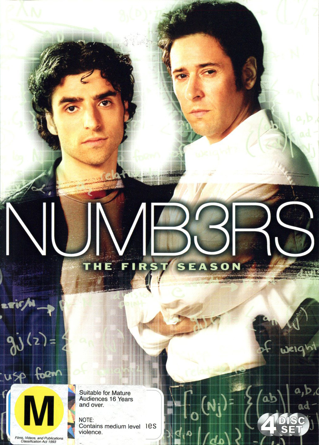 Numb3rs (Numbers) - Complete Season 1 (4 Disc Set) on DVD image