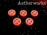 Aetherworks: No Fire Tokens - Fluorescent Red (5 Pack)