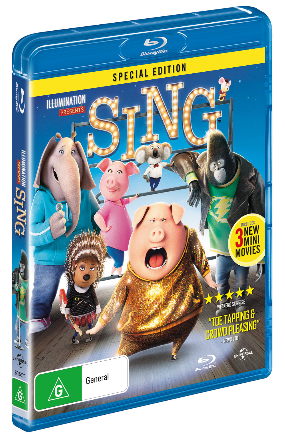 Sing on Blu-ray image