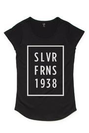 Silver Ferns SLVFN Stars Black Kids T-Shirt (Size 12)