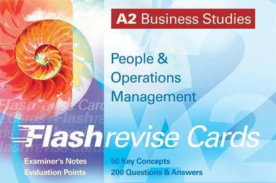 A2 Business Studies: People and Operations Management Flash Revise Cards by Andrew Gillespie image