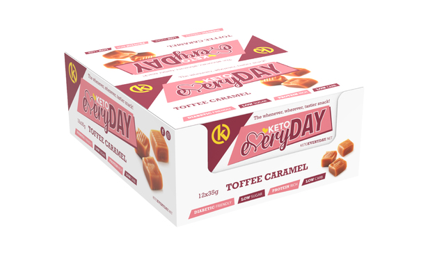 Keto Nutrition: Everyday Low-Carb Toffee Caramel Bars (Box of 12)