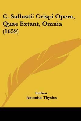 C. Sallustii Crispi Opera, Quae Extant, Omnia (1659) by Sallust image