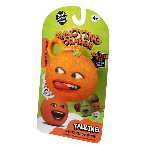 Annoying Orange Talking Plush Keyring / Clip-on - Nyah Nyah Orange