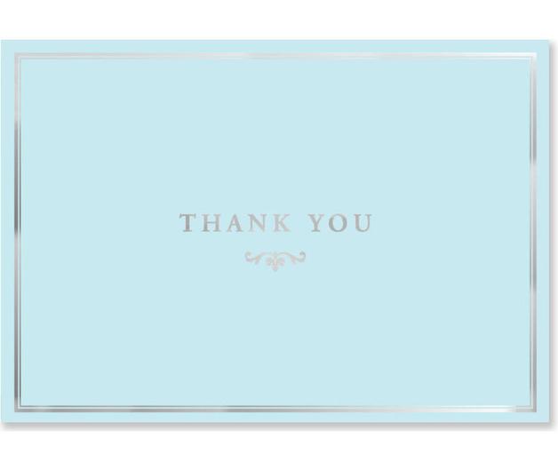 Blue Elegance Thank You Notes (14 Cards/Envelopes)