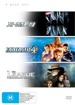 X-Men / Fantastic 4 / League Of Extraordinary Gentlemen (3 Disc Set) on DVD