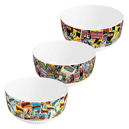 DC Comics: Retro Print Bowls (Set of 3)
