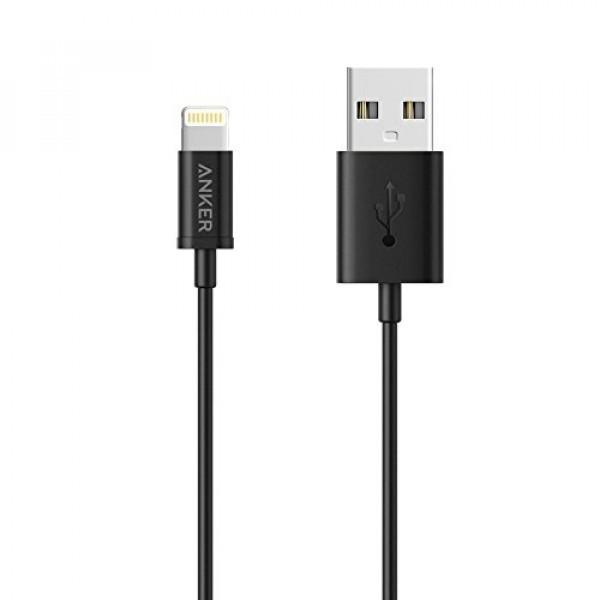 ANKER: PowerLine Lightning Cable 5000 bend, MFI certified PVC - 0.9m/Black
