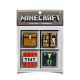 Minecraft Overworld Buttons (4 Pack)