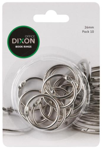 Dixon Book Rings 26mm Pack 10 image