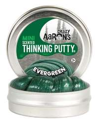 Crazy Aaron's Thinking Putty: Christmas Mini Tin Putty - Evergreen