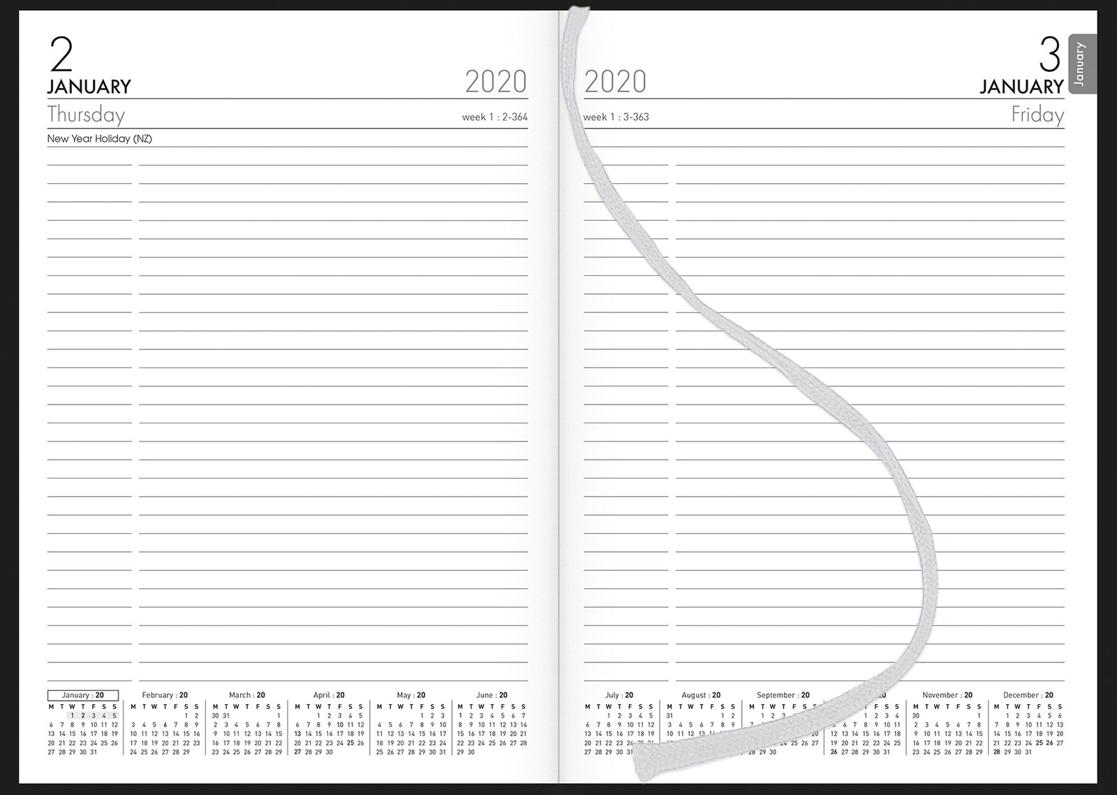 Collins: 2020 Daily A51 Diary - Black image