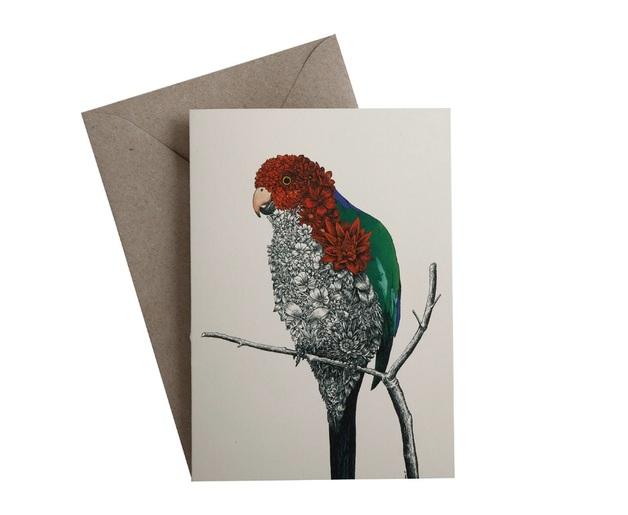 Maxwell & Williams: Marini Ferlazzo Birds Greeting Cards - Parrot
