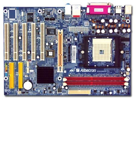 Albatron Motherboard K8X250GB PRO ATHLON64 RAID+LAN+5.1SND