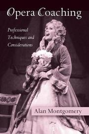 Opera Coaching by Alan Montgomery image