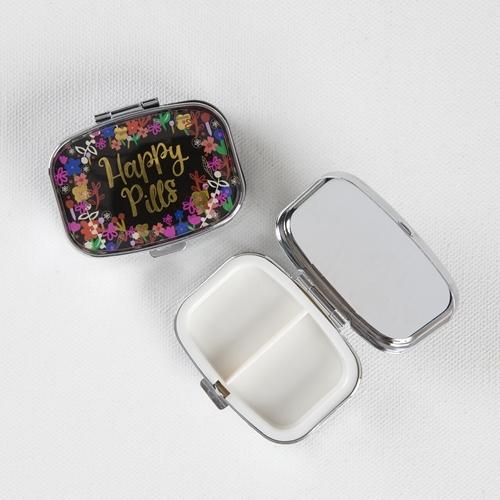 Natural Life: Pill Box - Happy Pills Silver