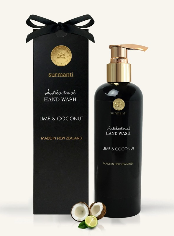 Surmanti Hand Wash Antibacterial Cleanser - Lime & Coconut (300ml)