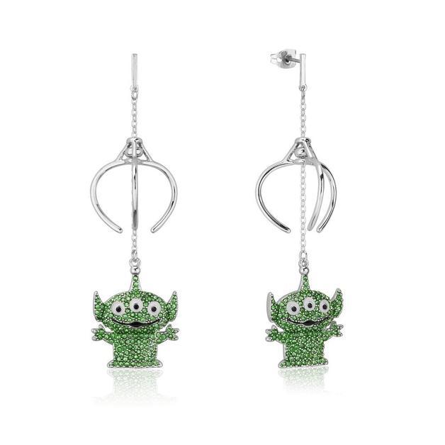 Couture Kingdom: Disney Pixar Toy Story Alien Crystal Drop Earrings - Silver