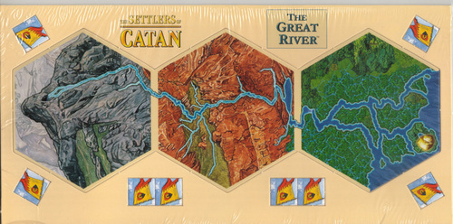 Settlers of Catan expansion : The Great River image
