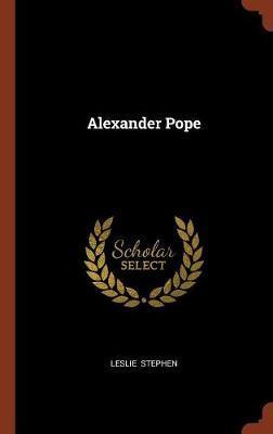 Alexander Pope by Leslie Stephen image