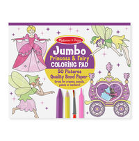 Melissa & Doug: Jumbo Colouring Pad Princess & Fairy