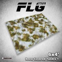 FLG Snow Covered Tundra 1 Neoprene Gaming Mat (6x4)