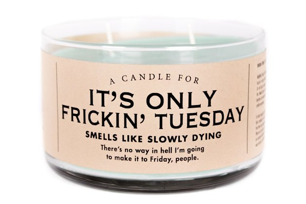 Whiskey River Co: A Candle For It's Only Frickin' Tuesday