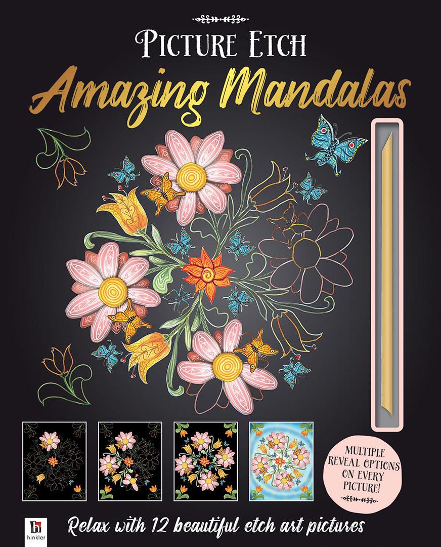Hinkler: Picture Etch - Amazing Mandalas image