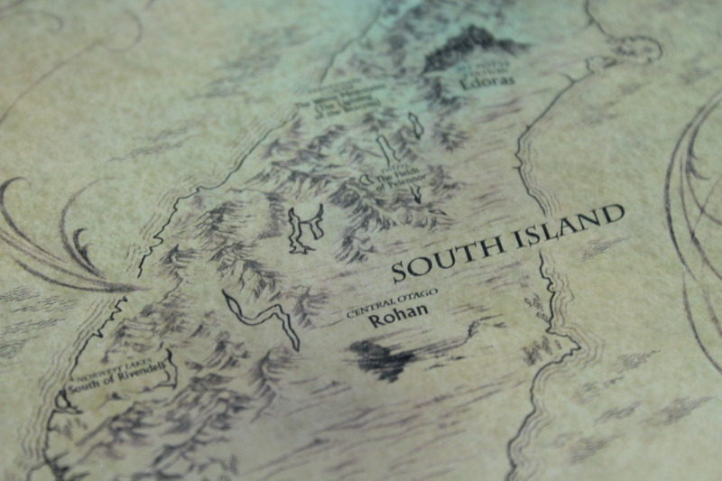Lord of the Rings New Zealand Map of MiddleEarth  by Weta  at