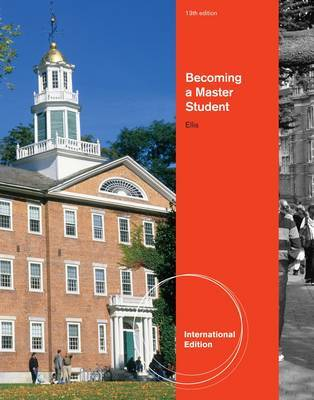 Becoming a Master Student, International Edition by Dave Ellis image