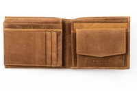 Urban Forest: Amos Leather Wallet w/ID Pocket - Cognac image