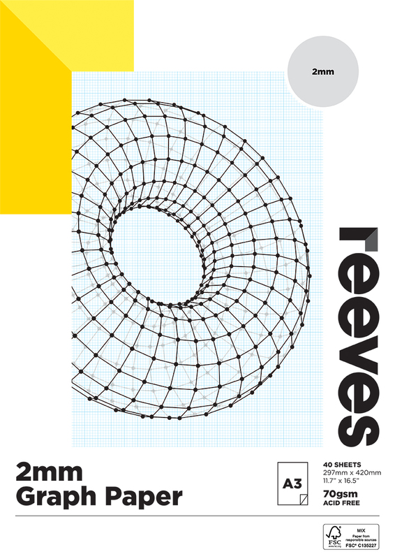 Reeves: Graph Pad - A3 (2MM, 70GSM, 40 Sheets)