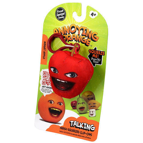 Annoying Orange Talking Plush Keyring / Clip-on - Midget Apple
