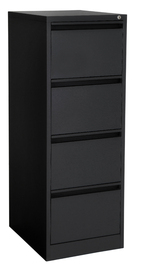 Proceed Lockable Filing Cabinet 4 Drawer - Black