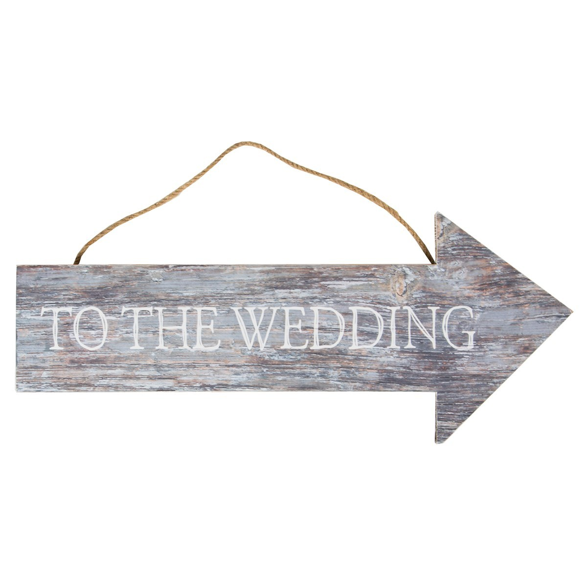 To The Wedding Coastal Chic Hanging Sign image