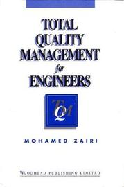 Total Quality Management for Engineers by Mohamed Zairi
