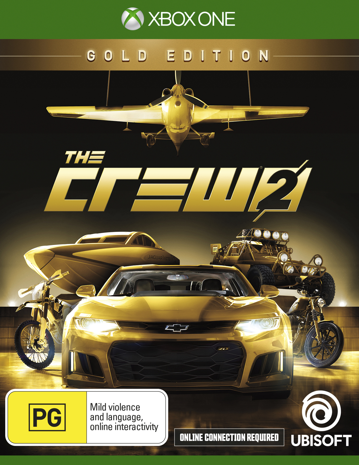the crew 2 gold edition xbox one buy now at mighty. Black Bedroom Furniture Sets. Home Design Ideas