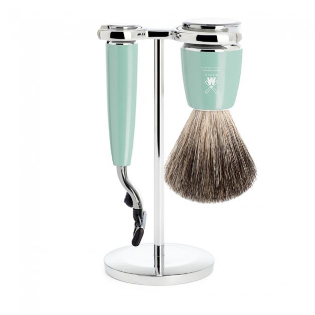 Muhle Mint Badger Mach3 Shaving Set - Mint