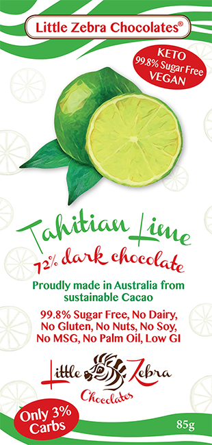 Little Zebra Chocolates: Tahitian Lime