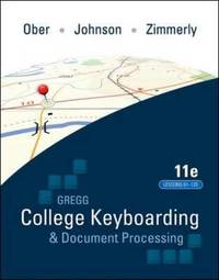 Gregg College Keyboading & Document Processing (GDP); Lessons 61-120 text by Scot Ober image