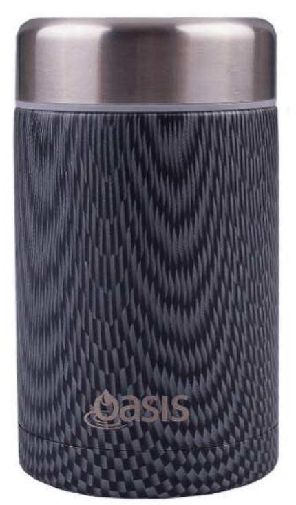 Oasis Stainless Steel Insulated Food Flask - Graphite (450ml)