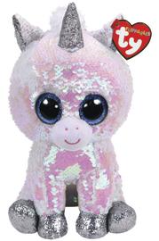 TY Beanie Boo: Flip Diamond Unicorn - Medium Plush