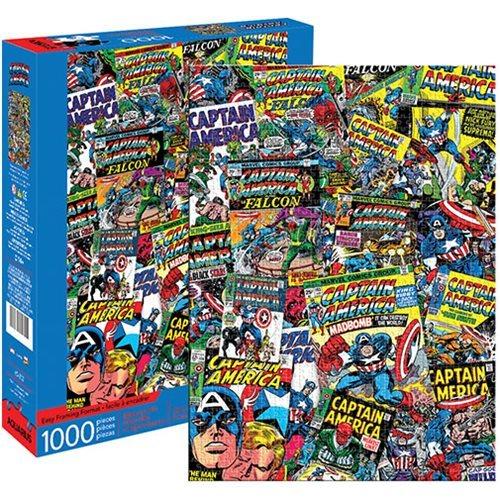 Marvel: 1,000 Piece Puzzle - Captain America Collage