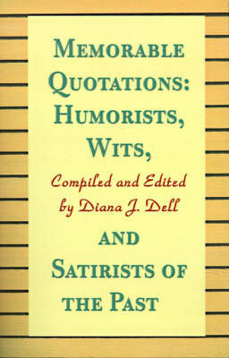 Humorists, Wits, and Satirists of the Past