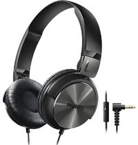 Philips DJ Style On-Ear Headphones With Mic (Black)