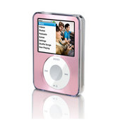 Belkin Clear Acrylic & Pink Brushed Metal Face for iPod nano 3G image