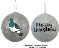 Antics: Christmas Decoration - Kereru Silver image
