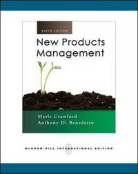 New Product Management by C.Merle Crawford image