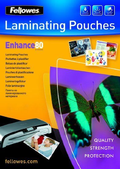 Fellowes Laminating Pouches - A4 - 80 Micron Pack 100 image